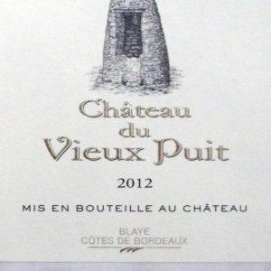 Mooie rode Château du Vieux Puit Bordeaux