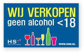 geen alcohol onder de 18 jaar